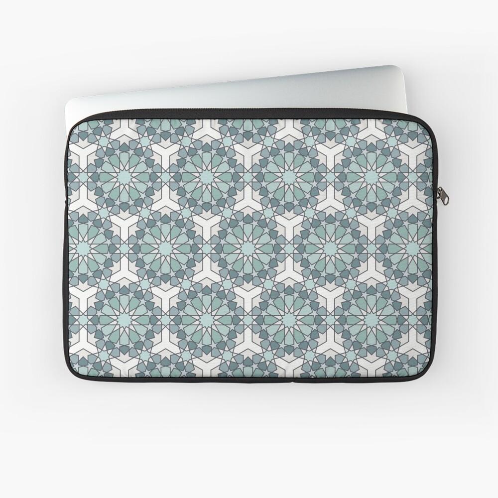 Geometric Pattern: Arabic Tiles: Seafoam Laptop Sleeve