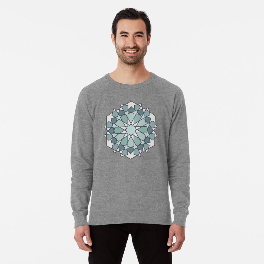 Geometric Pattern: Arabic Tiles: Seafoam Lightweight Sweatshirt