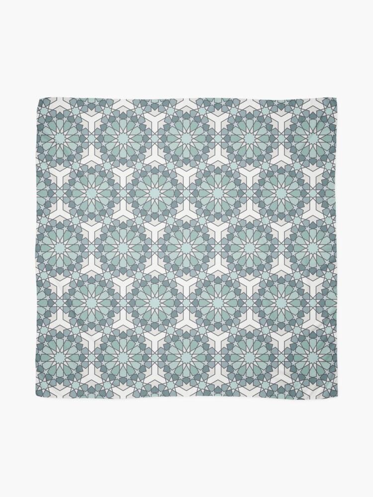 Alternate view of Geometric Pattern: Arabic Tiles: Seafoam Scarf