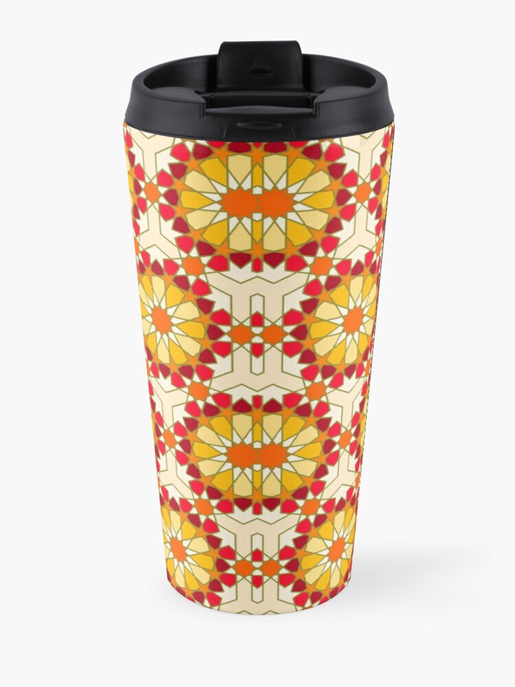 Alternate view of Geometric Pattern: Arabic Tiles: Sunset Travel Mug
