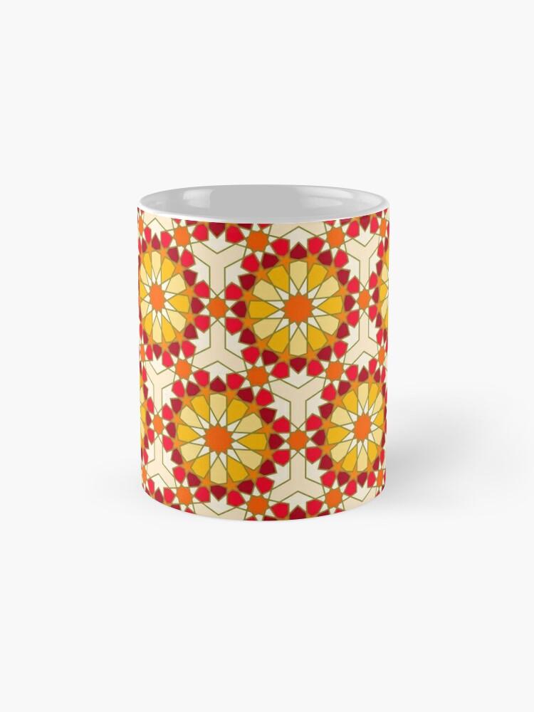 Alternate view of Geometric Pattern: Arabic Tiles: Sunset Mug