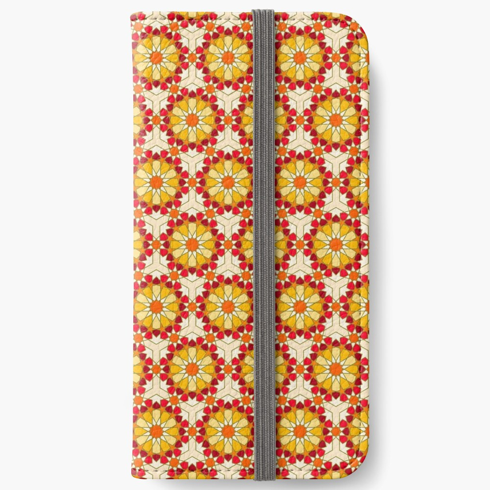 Geometric Pattern: Arabic Tiles: Sunset iPhone Wallet