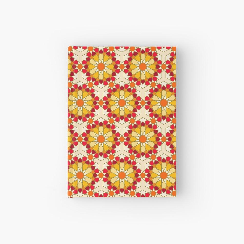 Geometric Pattern: Arabic Tiles: Sunset Hardcover Journal