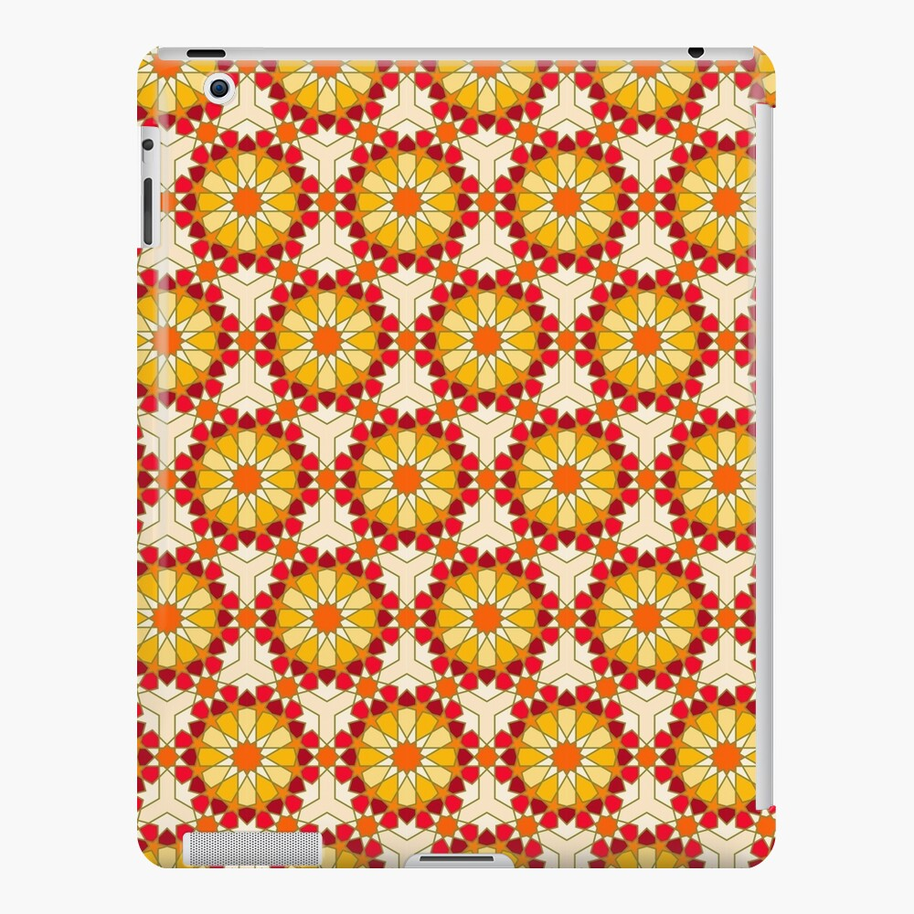 Geometric Pattern: Arabic Tiles: Sunset iPad Case & Skin