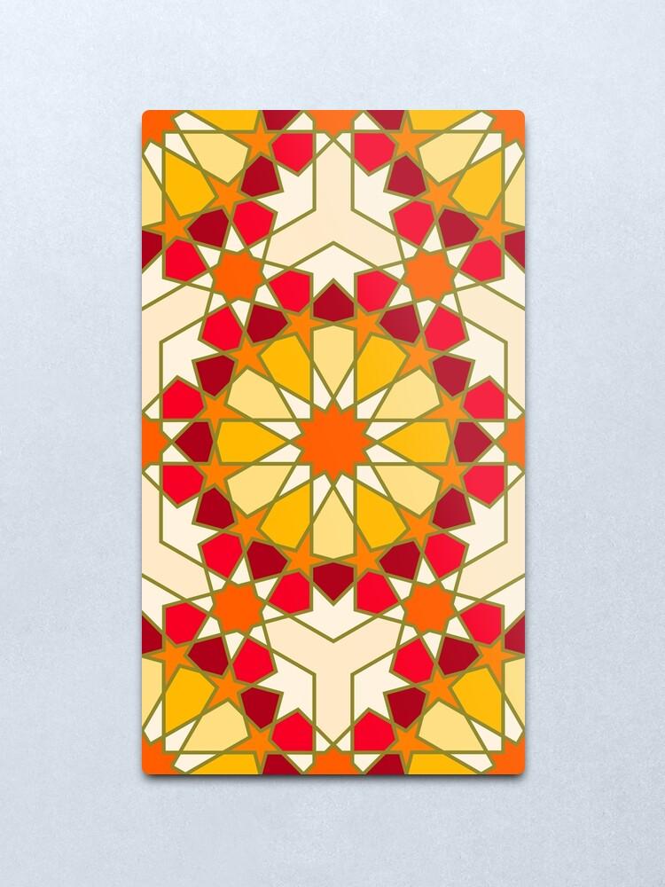 Alternate view of Geometric Pattern: Arabic Tiles: Sunset Metal Print