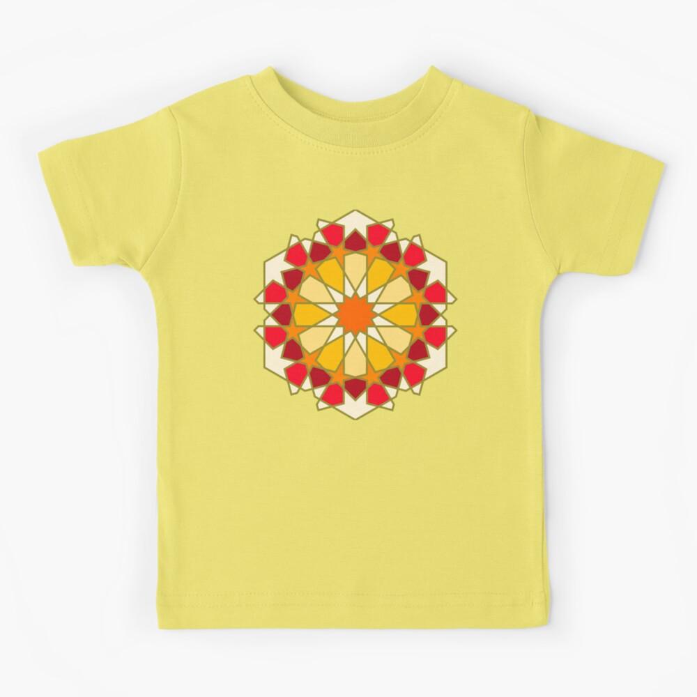 Geometric Pattern: Arabic Tiles: Sunset Kids T-Shirt