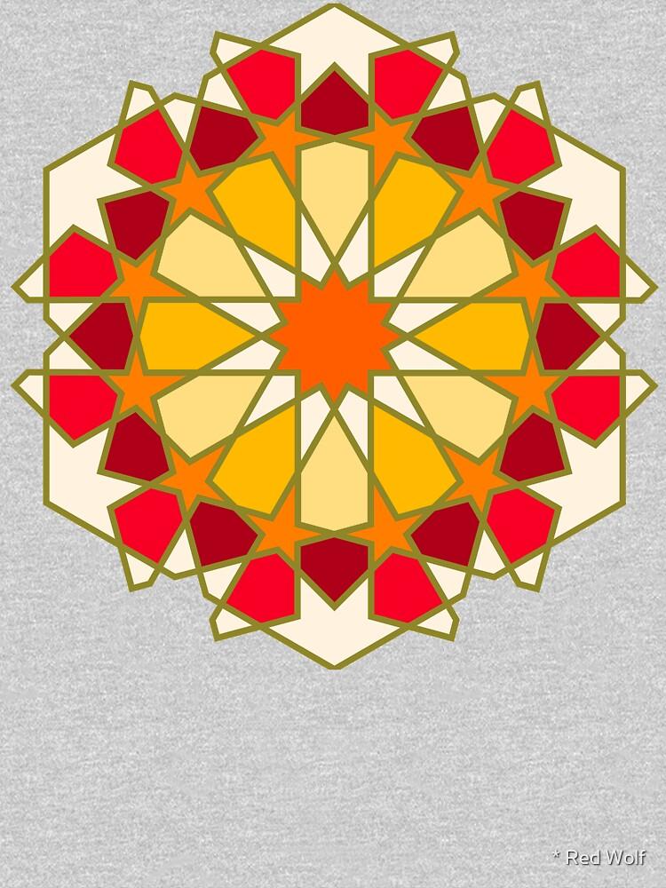 Geometric Pattern: Arabic Tiles: Sunset by redwolfoz