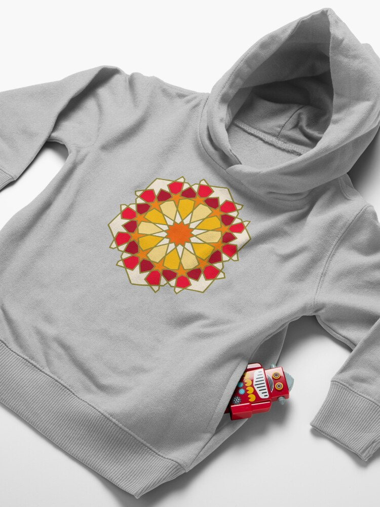 Alternate view of Geometric Pattern: Arabic Tiles: Sunset Toddler Pullover Hoodie