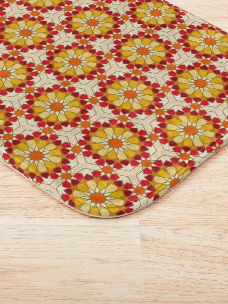 Alternate view of Geometric Pattern: Arabic Tiles: Sunset Bath Mat