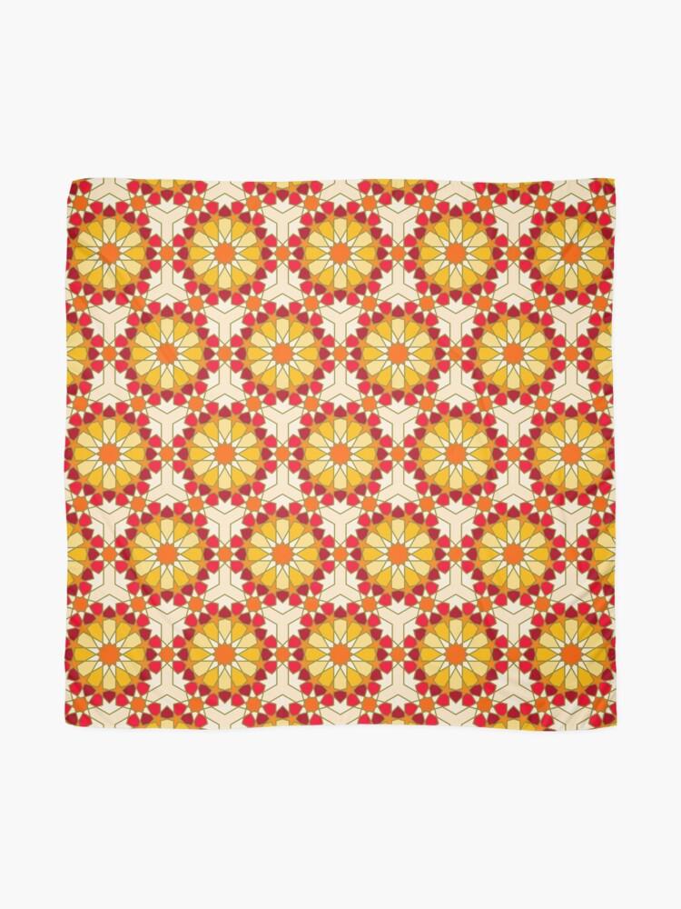 Alternate view of Geometric Pattern: Arabic Tiles: Sunset Scarf