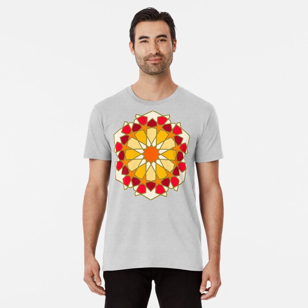 Geometric Pattern: Arabic Tiles: Sunset Premium T-Shirt
