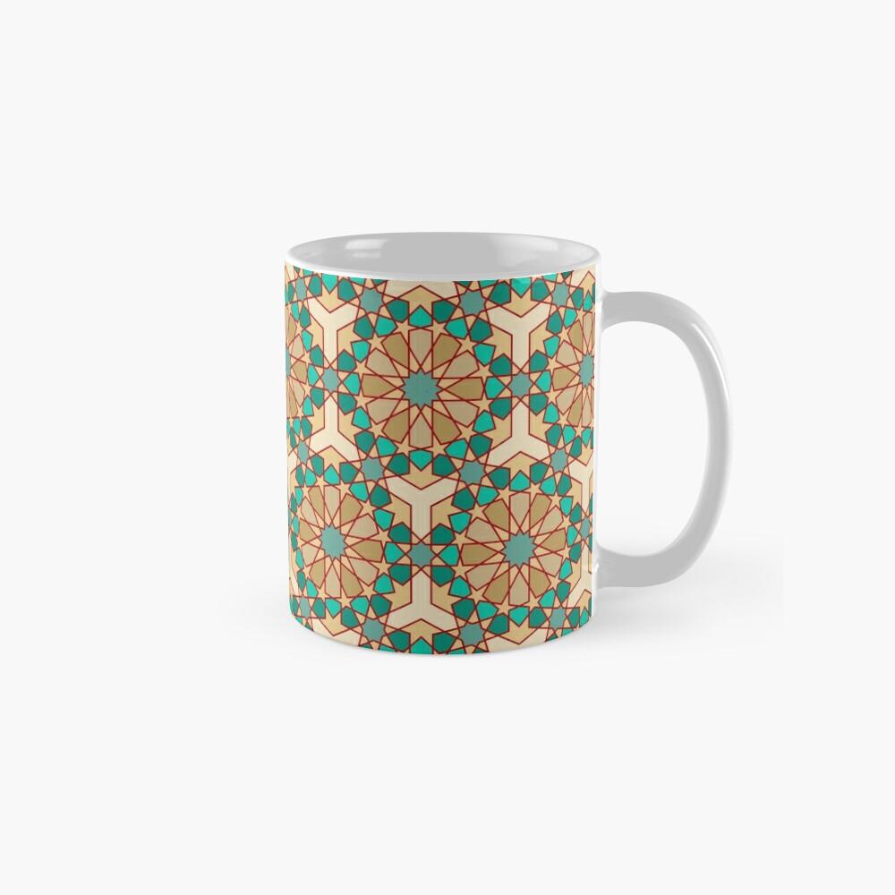 Geometric Pattern: Arabic Tiles: Turquoise Mug