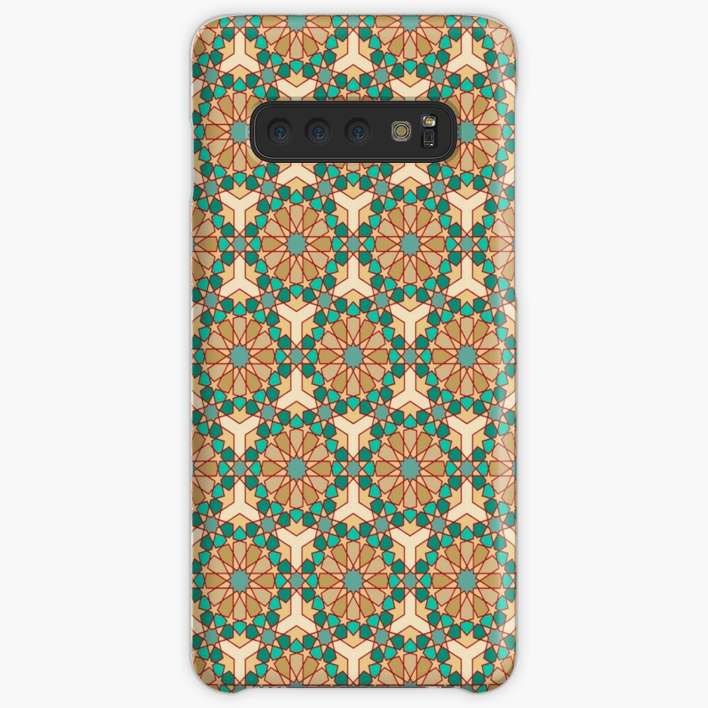 Geometric Pattern: Arabic Tiles: Turquoise Case & Skin for Samsung Galaxy