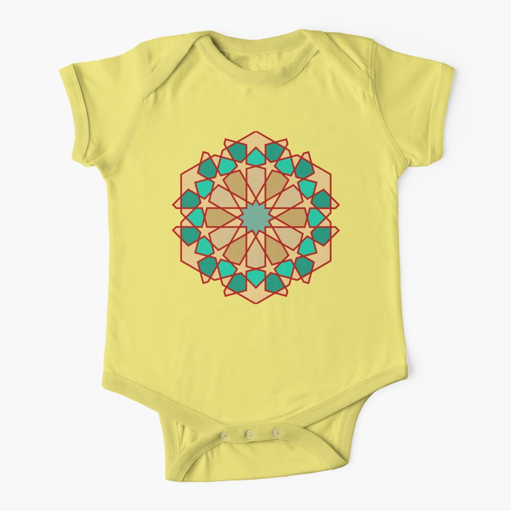 Geometric Pattern: Arabic Tiles: Turquoise Baby One-Piece
