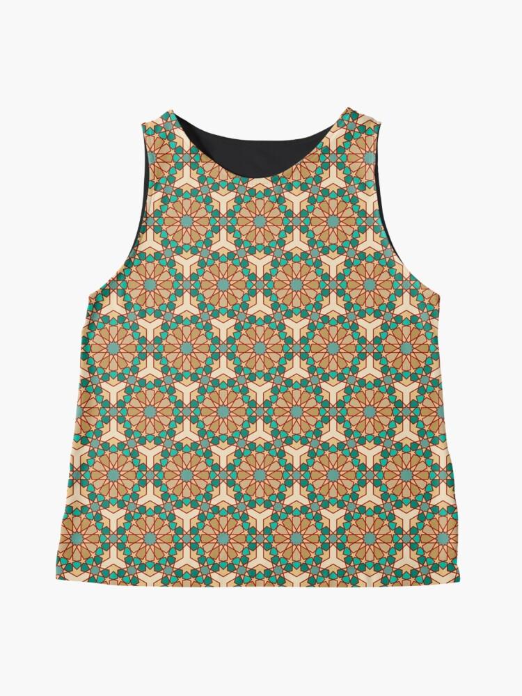 Alternate view of Geometric Pattern: Arabic Tiles: Turquoise Sleeveless Top