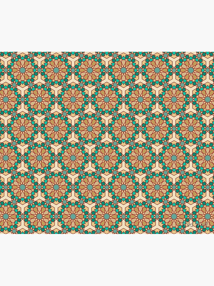 Geometric Pattern: Arabic Tiles: Turquoise by redwolfoz