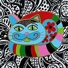 Colorful cat by Mirjam Griffioen