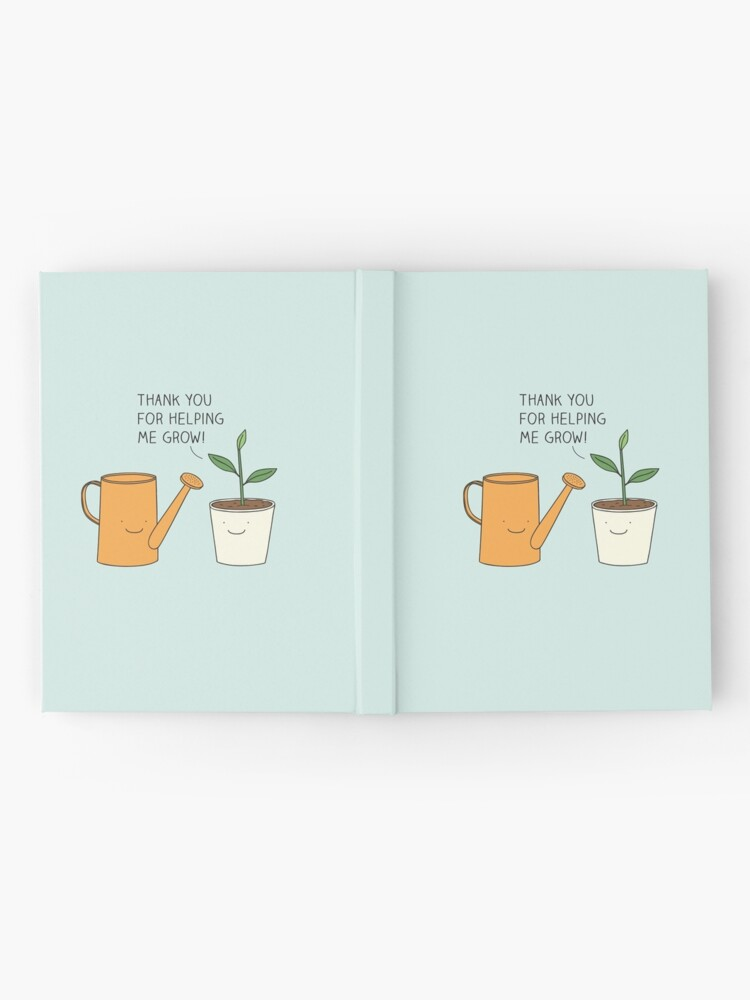 Alternate view of Thank you for helping me grow! Hardcover Journal