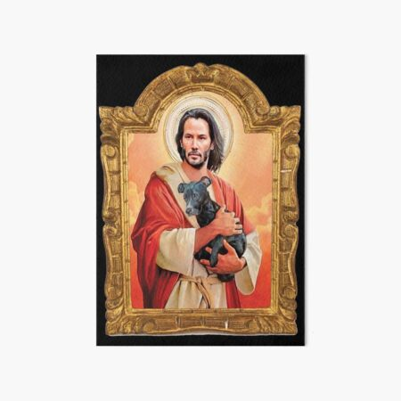 Keanu Reeves, St John, patron St of Doggies Art Board Print