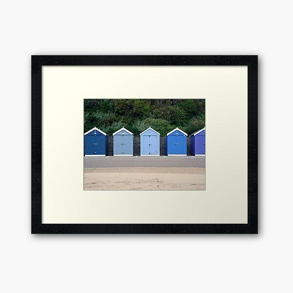 Blue Beach Huts Framed Art Print