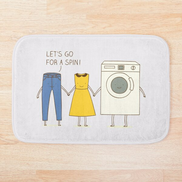 Let's go for a spin! Bath Mat