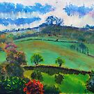 English Countryside Landscape Painting by MikeJory