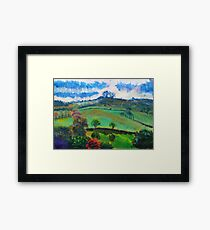 English Countryside Landscape Painting Framed Print