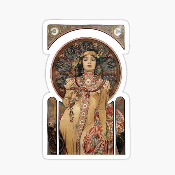 Alfons Mucha 3 Sticker