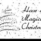 black n white christmas card by Bernie Stronner