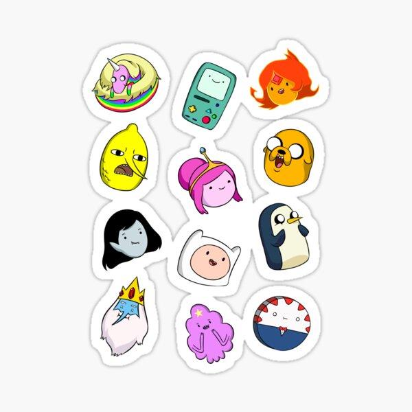 Adventure Time Cute Faces Sticker