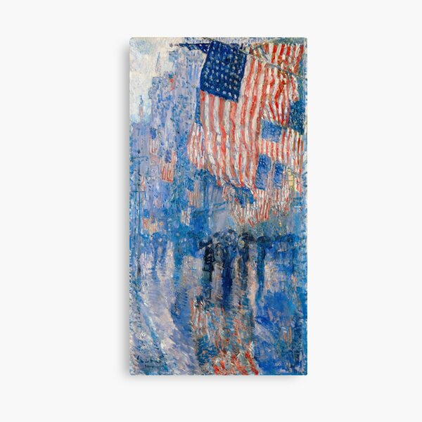 The Avenue in the Rain (High Resolution), Childe Hassam Canvas Print