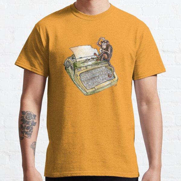 Typewriter Monkey Classic T-Shirt