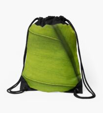 Leaf Abstract 2 Drawstring Bag