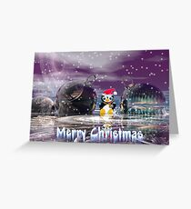 Penguin's Merry Christmas Greeting Card