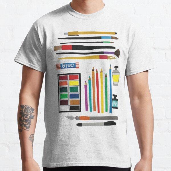 Art Supplies Collage Classic T-Shirt