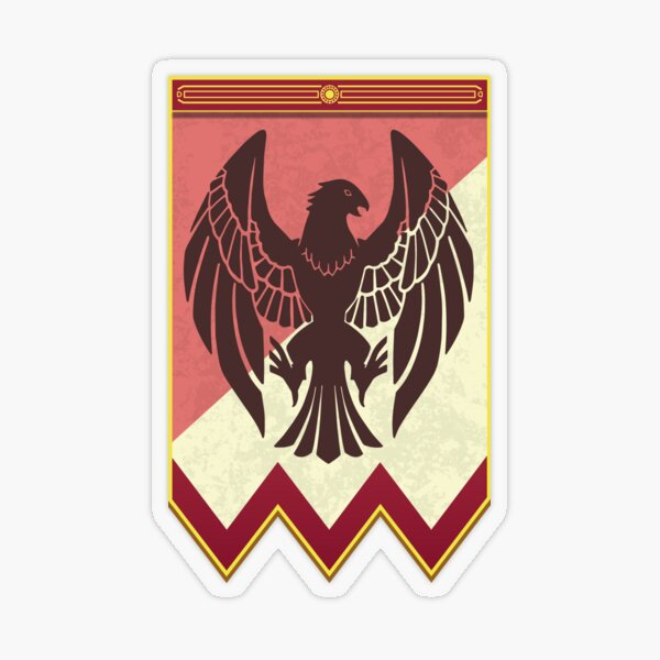 Fire Emblem 3 Houses: Black Eagles Banner Pegatina transparente