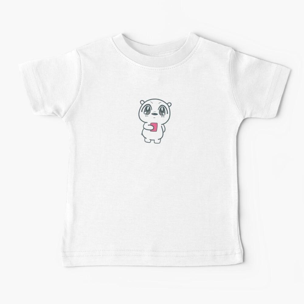 Cute We Bare Bears  ice bear anime style Illustration Baby T-Shirt