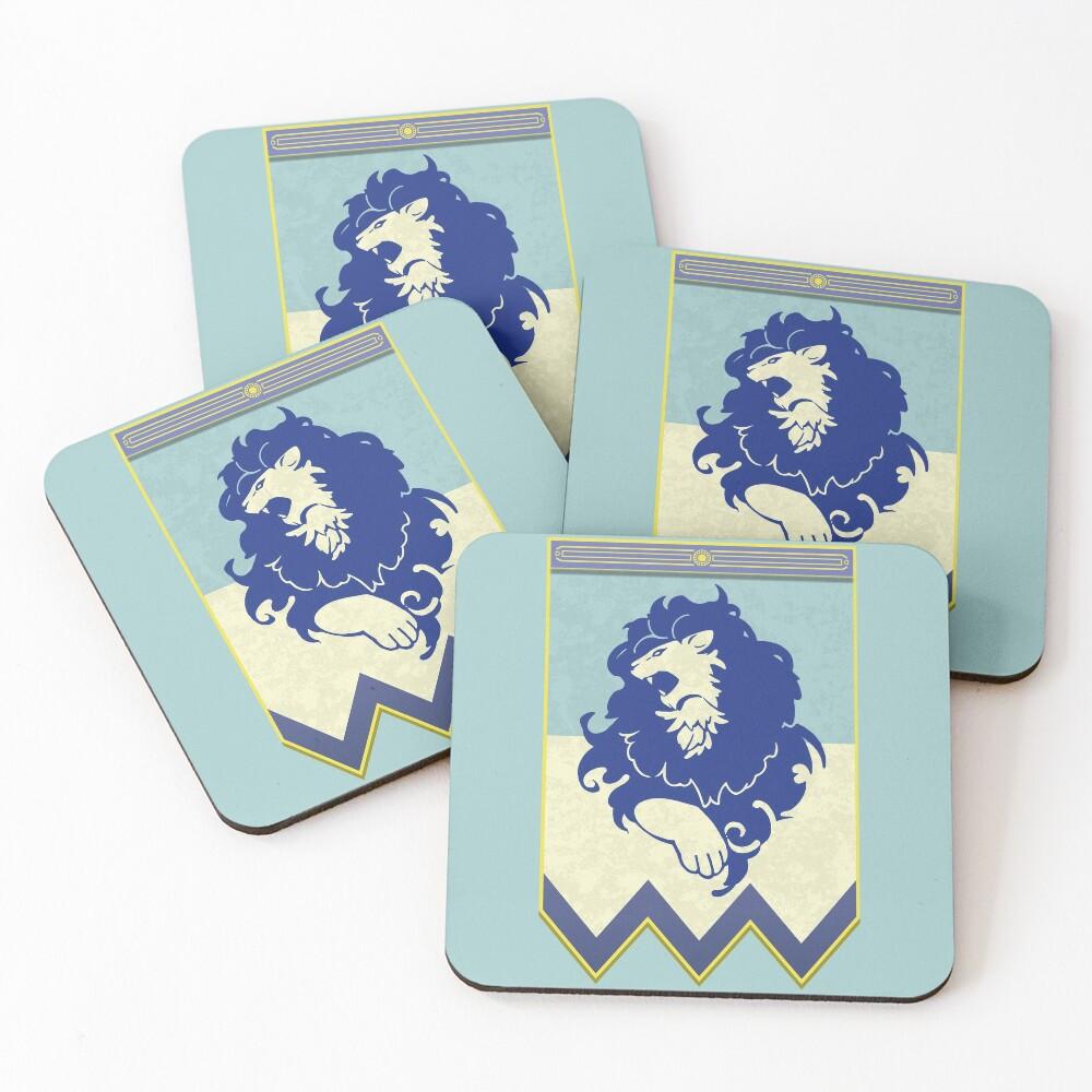 Fire Emblem 3 Houses: Blue Lions Banner Coasters (Set of 4)