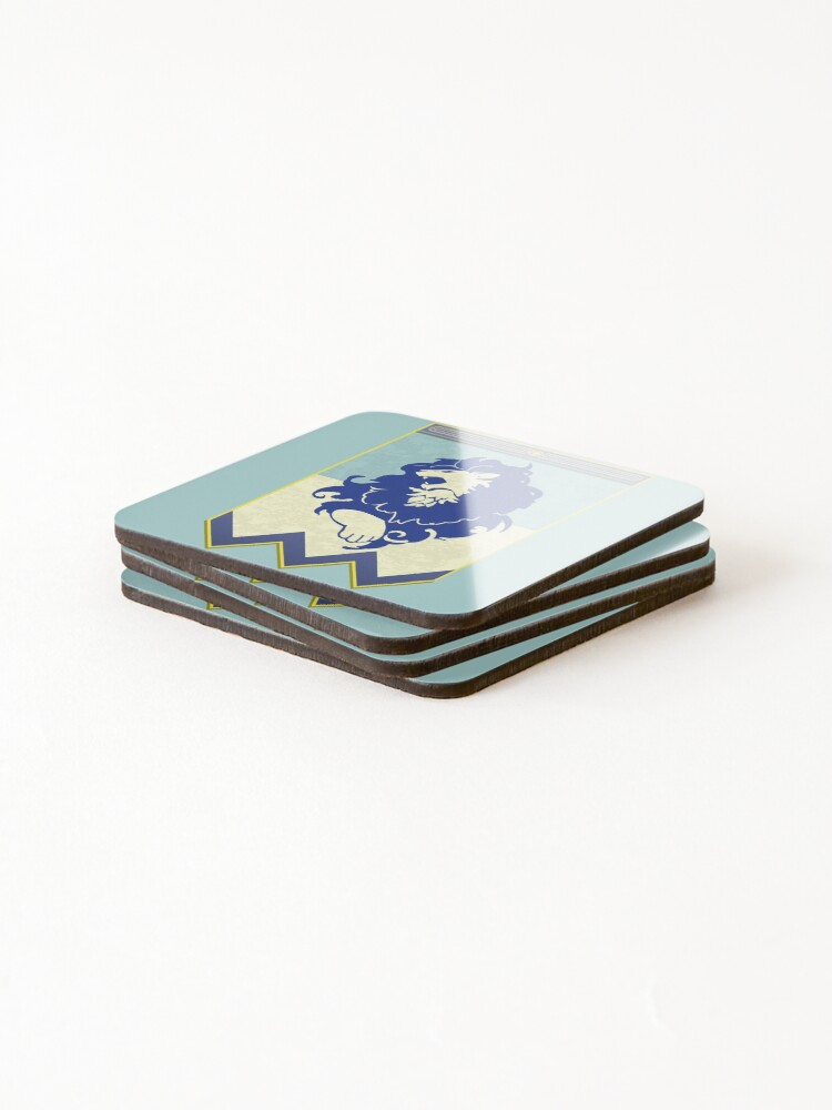 Alternate view of Fire Emblem 3 Houses: Blue Lions Banner Coasters (Set of 4)