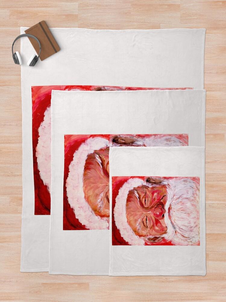 Alternate view of Santa Claus Throw Blanket