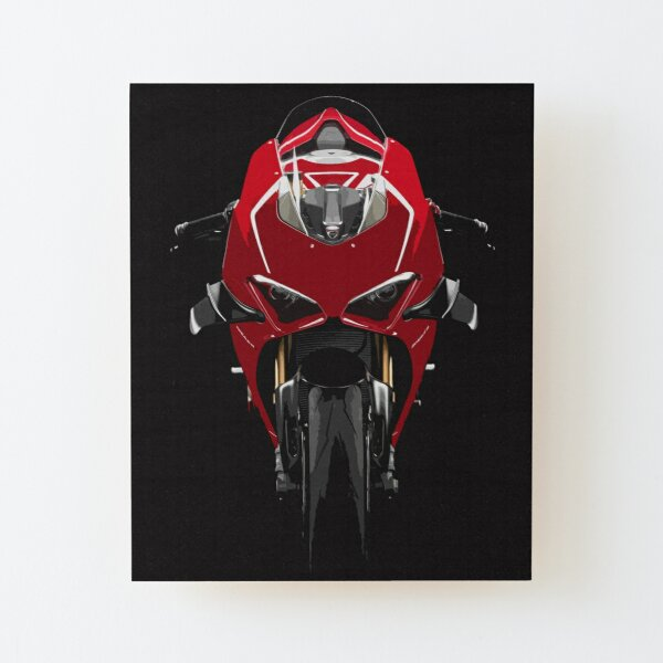 Ducati Panigale V4 R Wood Mounted Print