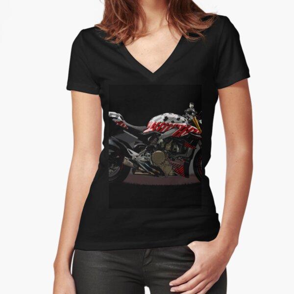 Ducati Streetfighter Prototype Pikes Peak International Hill Climb Fitted V-Neck T-Shirt