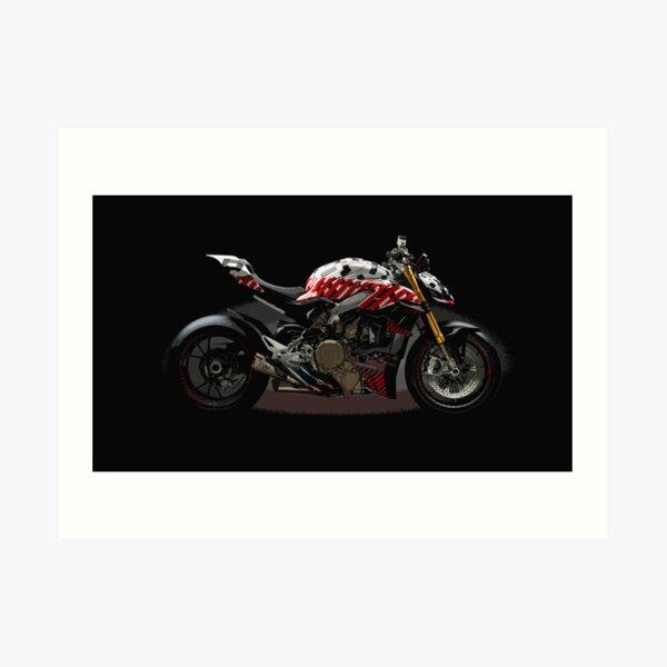 Ducati Streetfighter Prototype Pikes Peak International Hill Climb Art Print