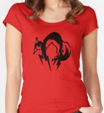 Metal Gear Solid - Fox (Black) Women's Fitted Scoop T-Shirt