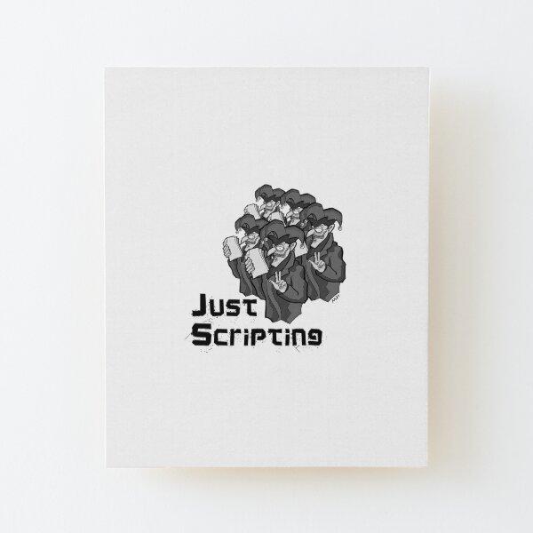 Pop: Just Scripting! Wood Mounted Print
