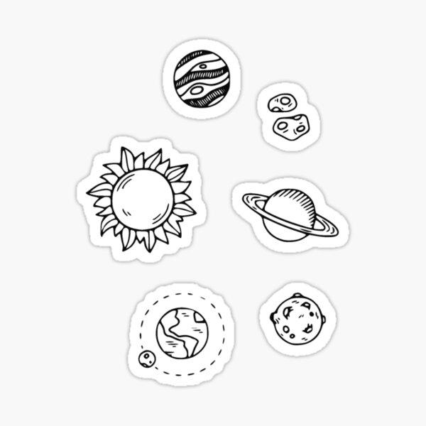 black universe mini Glossy Sticker