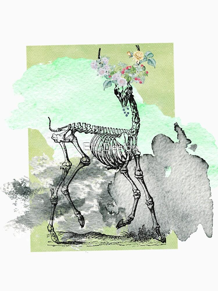 Flowery deer skeleton von EH-Design