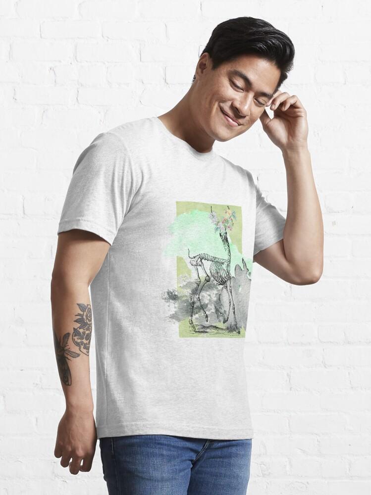 Alternative Ansicht von Flowery deer skeleton Essential T-Shirt