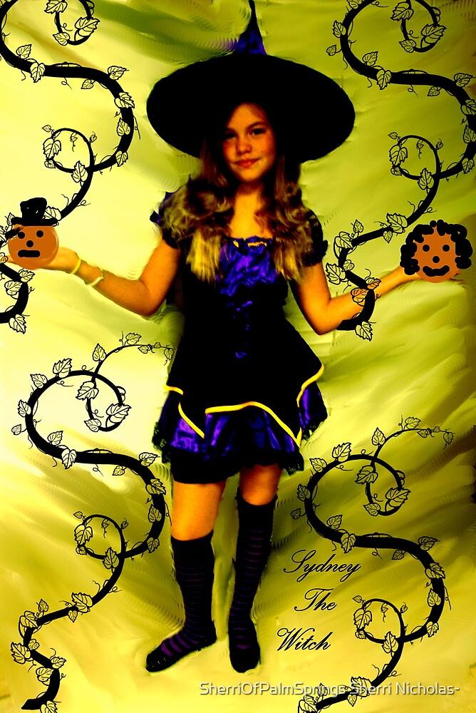 SYDNEY THE WITCH!!!  HAPPY HOLLOWEEN!!!  by SherriOfPalmSprings Sherri Nicholas-
