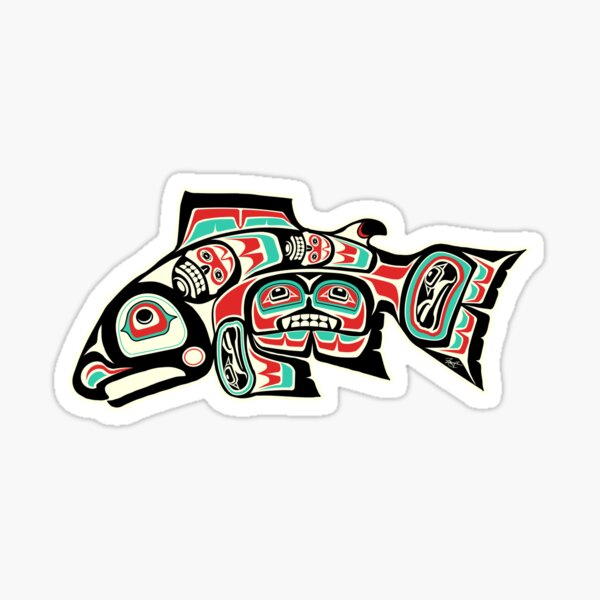 Alaskan Salmon Sticker